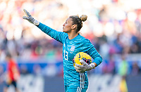 HARRISON, NJ - MARCH 08: Sandra Panos #13 of Spain yells to her team during a game between Spain and USWNT at Red Bull Arena on March 08, 2020 in Harrison, New Jersey.