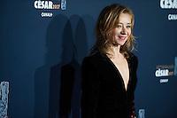 Sylvie Testud ‡ la 42e CÈrÈmonie des CÈsars ‡ l'arrivÈe sur le tapis rouge de la salle Pleyel ‡ Paris le 24 fÈvrier 2017