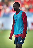 03 June 2012: US Men's National Soccer Team midfielder Maurice Edu #7in action during the warm-up in an international friendly  match between the United States Men's National Soccer Team and the Canadian Men's National Soccer Team at BMO Field in Toronto..The game ended in 0-0 draw..