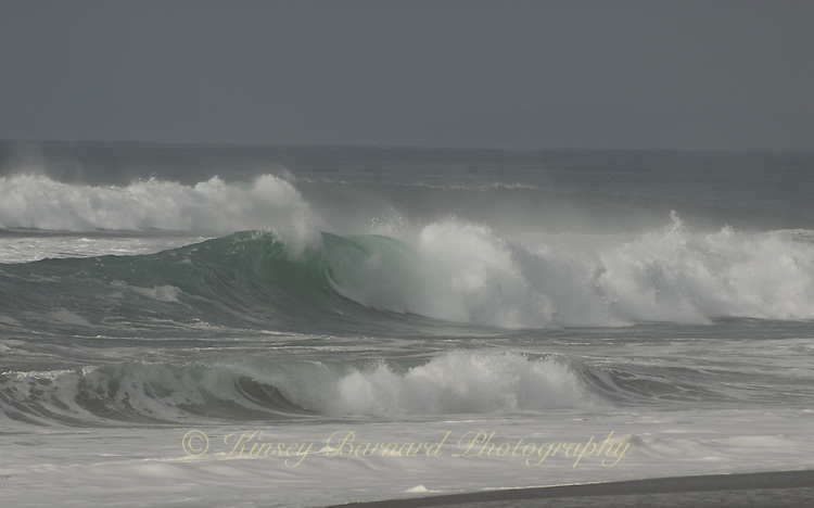 Almost gray winter waves at Pt. Reyes National Seashore.