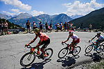 Part of the 34 man breakaway group led by Olympic Champion Greg Van Avermaet (BEL) CCC Team during Stage 18 of the 2019 Tour de France running 208km from Embrun to Valloire, France. 25th July 2019.<br /> Picture: ASO/Pauline Ballet | Cyclefile<br /> All photos usage must carry mandatory copyright credit (© Cyclefile | ASO/Pauline Ballet)