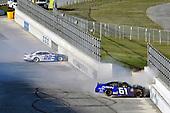 #22: Austin Cindric, Team Penske, Ford Mustang and #61: Austin Hill, Hattori Racing Enterprises, Toyota Supra AISIN Group spin