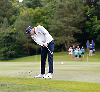 2nd July 2021; Mount Juliet Golf Club, Kilkenny, Ireland; Dubai Duty Free Irish Open Golf, Day Two; John Catlin of the USA takes his second shot from the 10th fairway