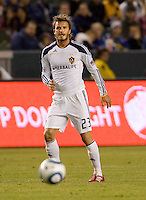 LA Galaxy midfielder David Beckham looking for the ball. The LA Galaxy defeated DC United 2-1at Home Depot Center stadium in Carson, California on Saturday September 18, 2010.