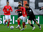 Fussball - 3.Bundesliga - Saison 2020/21<br /> Kaiserslautern -  Fritz-Walter-Stadion 07.04.2021<br /> 1. FC Kaiserslautern (fck)  - FSV Zwickau (zwi)<br /> Anas OUAHIM (fck) - Marco SCHIKORA (FSV Zwickau) <br /> <br /> Foto © PIX-Sportfotos *** Foto ist honorarpflichtig! *** Auf Anfrage in hoeherer Qualitaet/Aufloesung. Belegexemplar erbeten. Veroeffentlichung ausschliesslich fuer journalistisch-publizistische Zwecke. For editorial use only. DFL regulations prohibit any use of photographs as image sequences and/or quasi-video.
