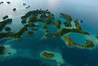 Aerials over the Rockislands in palau Micronesia