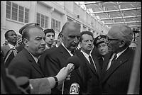 7 Mai 1971. Vue de Georges Pompidou en visite à Toulouse.