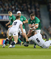 Saturday 2nd February 2019 | Ireland vs England<br /> <br /> Tadhg Furlong is tackled by Mark Wilson during the opening Guinness 6 Nations clash between Ireland and England at the Aviva Stadium, Lansdowne Road, Dublin, Ireland.  Photo by John Dickson / DICKSONDIGITAL