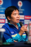 Team managers of China PR, Thailand, Iran and Korea Republic attends the Pre Match Press Conference Group A during the AFC U-16 Women's Championship China 2015 at the Wuhan Jianguo Oriental Hotel on 03 November 2015 in Wuhan, China. Photo by Aitor Alcalde / Power Sport Images