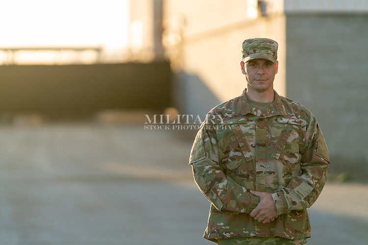 Man in uniform ready to give commands.