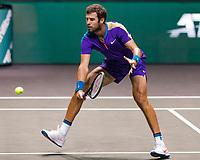 Rotterdam, The Netherlands, 5 march  2021, ABNAMRO World Tennis Tournament, Ahoy,  Quarter final: Karen Kachanov (RUS). Photo: www.tennisimages.com/henkkoster
