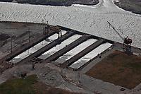 aerial photograph of the World War II ship building facility of the Basalt Rock Company, Napa River, Napa , California