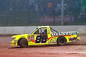 NASCAR Camping World Truck Series<br /> Eldora Dirt Derby<br /> Eldora Speedway, Rossburg, OH USA<br /> Wednesday 19 July 2017<br /> Matt Crafton, Ideal Door / Menards Toyota Tundra celebrates his win with a burnout<br /> World Copyright: Russell LaBounty<br /> LAT Images