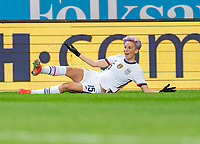 SOLNA, SWEDEN - APRIL 10: Megan Rapinoe #15 of the USWNT yells at the referee during a game between Sweden and USWNT at Friends Arena on April 10, 2021 in Solna, Sweden.
