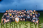 Austin Stacks team celebrate winning the County League final in Rathmore on Sunday