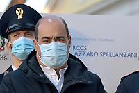 Roma, 27 Dicembre 2020.<br /> Nicol Zingaretti.<br /> Conferenza stampa di presentazione della campagna di vaccinazione contro il Covid all'istituto Lazzaro Spallanzani
