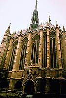 Sainte-Chapelle is a royal chapel in the Gothic style, within the medieval Palais de la Cité, the residence of the Kings of France until the 14th century, on the Île de la Cité in the River Seine in Paris, France.