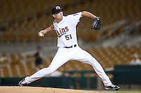 Glendale Desert Dogs pitcher Alex Meyer (51), of the Minnesota Twins organization, during an Arizona Fall League game against the Peoria Javelinas on October 14, 2013 at Camelback Ranch Stadium in Glendale, Arizona.  Glendale defeated Peoria 5-1.  (Mike Janes/Four Seam Images)