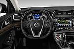Car pictures of steering wheel view of a 2018 Nissan Maxima Platinum 4 Door Sedan Steering Wheel