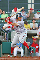 Potomac Nationals catcher Sandy Leon (#36) at bat during a game vs. Myrtle Beach Pelicans at BB&T Coastal Field in Myrtle Beach, SC on April 25, 2011. Photo By Robert Gurganus/Four Seam Images