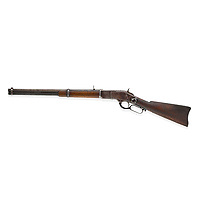BNPS.co.uk (01202 558833)<br /> Pic: Bonhams/BNPS<br /> <br /> Pictured: The sale includes a gun he had with him when he was killed, a Winchester 1873, which was supposedly his 'most trusted' weapon, is valued at £360,000.<br /> <br /> The gun used to kill Wild West outlaw Billy the Kid 140 years ago has emerged for sale for a staggering £2.2million.<br /> <br /> The notorious American fugitive was gunned down by Sheriff Pat Garrett at his ranch hideout in Fort Summer, New Mexico, in 1881.<br /> <br /> He had been on the run for two months following a violent prison break-out during which he killed two of the sheriff's deputies.