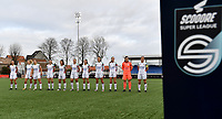 OHL's team line up ahead of  a female soccer game between Club Brugge Dames YLA and Oud Heverlee Leuven on the 8 th matchday of the 2020 - 2021 season of Belgian Scooore Womens Super League , saturday 21 th November 2020  in Knokke , Belgium . PHOTO SPORTPIX.BE | SPP | DAVID CATRY