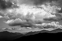 Clouds And Mountains in the High Peaks Region in the Adirondack Mountains in New york state