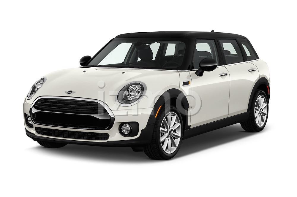 2018 MINI CLUBMAN Cooper 5 Door wagon Angular Front stock photos of front three quarter view