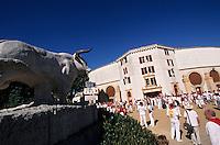 Europe/France/Aquitaine/64/Pyrénées-Atlantiques/Bayonne: Avant la corrida aux arênes lors des fêtes de Bayonne