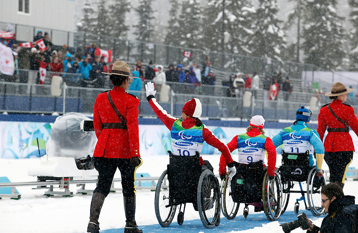 Colette Bourgonje, Vancouver 2010 - Para Nordic Skiing // Ski paranordique.<br /> Colette Bourgonje wins silver in Para Nordic Skiing // Colette Bourgonje gagne l'argent en ski paranordique. 14/03/2010.