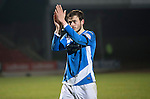 St Johnstone v Inverness Caley Thistle…03.12.16   McDiarmid Park..     SPFL<br />Murray Davidson applauds the fans at full time<br />Picture by Graeme Hart.<br />Copyright Perthshire Picture Agency<br />Tel: 01738 623350  Mobile: 07990 594431