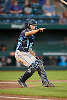 Corpus Christi Hooks catcher Garrett Stubbs (1) during a game against the Springfield Cardinals on May 30, 2017 at Hammons Field in Springfield, Missouri.  Springfield defeated Corpus Christi 4-3.  (Mike Janes/Four Seam Images)