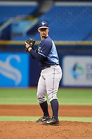 Tampa Bay Rays pitcher Reece Karalus (81) during an instructional league game against the Boston Red Sox on September 24, 2015 at Tropicana Field in St Petersburg, Florida.  (Mike Janes/Four Seam Images)