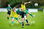 Aaron Doyle of Kerry and Tommy Cusack of Limerick County tussle for possession in the 2021 Kennedy Cup