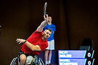 Alphen aan den Rijn, Netherlands, December 21, 2019, TV Nieuwe Sloot,  NK Tennis, Men's singles wheelchair semifinal: Ricky Molier (NED)<br /> Photo: www.tennisimages.com/Henk Koster