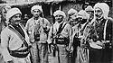Iraq 1962 <br /> Left,General Barzani visiting Anwar Beg Betwata Khoshnaw, first right in his village of Aindik<br /> Irak 1962<br /> A gauche, Mustafa Barzani visitant Anwar Beg Betwata Khoshnaw , 1er a droite, dans son village de Aindik