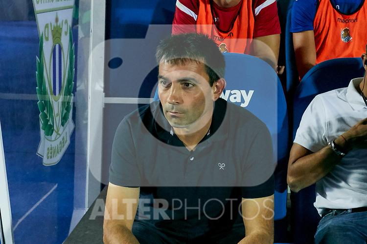 Real Sociedad's coach Asier Garitano during La Liga match. August 24, 2018. (ALTERPHOTOS/A. Perez Meca)