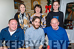 Emi Laguna from Abbeydorney celebrating his 30th in Bella Bia on Thursday night.<br /> Seated l to r: Kevin Leahy, Emi Laguna and James Ryall.<br /> Back l to r: Sarah, Norma and Elaine Ryall,