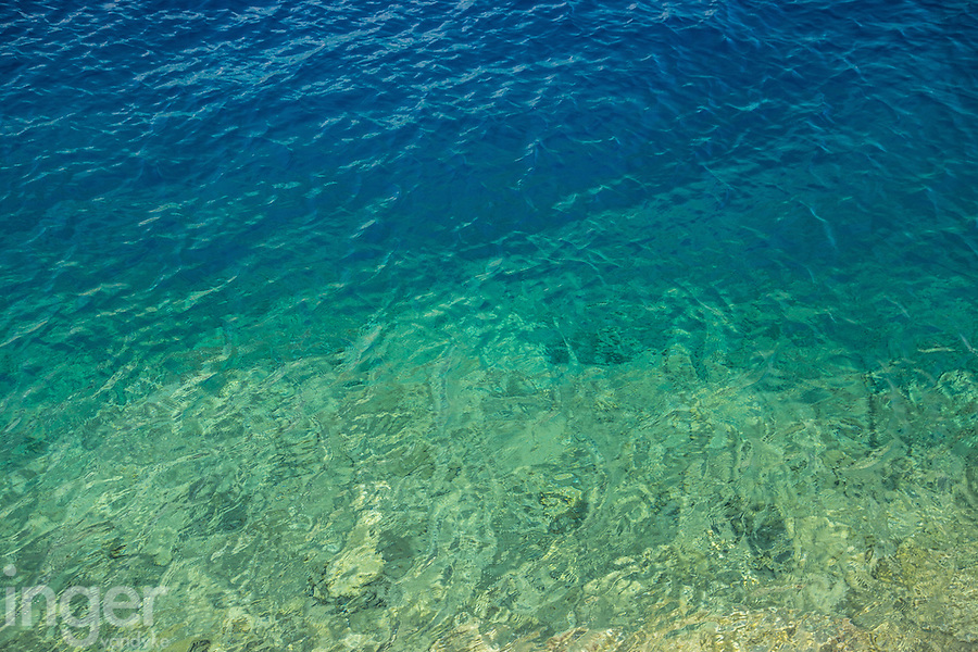 The crystal clear waters of Kastellorizo, Greece