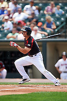 Rochester Red Wings right fielder Daniel Palka (37) at bat during a game against the Norfolk Tides on July 17, 2016 at Frontier Field in Rochester, New York.  Rochester defeated Norfolk 3-2.  (Mike Janes/Four Seam Images)