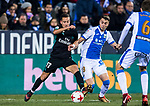 Lucas Vazquez (L) of Real Madrid battles for the ball with Jose Manuel Garcia Naranjo of CD Leganes during the Copa del Rey 2017-18 match between CD Leganes and Real Madrid at Estadio Municipal Butarque on 18 January 2018 in Leganes, Spain. Photo by Diego Gonzalez / Power Sport Images