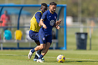 BRADENTON, FL - JANUARY 22: Cristian Roldan moves with the ball during a training session at IMG Academy on January 22, 2021 in Bradenton, Florida.