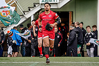 Rodney Iona of Jersey Reds during the Championship Cup QF match between Ealing Trailfinders and Jersey Reds at Castle Bar, West Ealing, England  on 22 February 2020. Photo by David Horn.