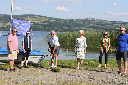 Faith in the future - the sod-turning ceremony to launch work on Killaloe SC's new €700,000 clubhouse on Lough Derg included (left to right) Councillor Tony O'Brien, Sue Concannon & Jim Ryan of KSC Development Committee, Cllr. Dr. Phyll Bugler, Caroline Rice (KSC PRO), and Commodore John Callanan