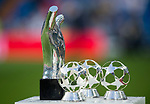 Trophies of UEFA Men's Player of the Year 2017/18, UEFA Midfielder of the Season 2017/18, UEFA Goalkeeper of the Season 2017/18 and UEFA Defender of the Season 2017/18 are displayed prior to the La Liga 2018-19 match between Real Madrid and CD Leganes at Estadio Santiago Bernabeu on September 01 2018 in Madrid, Spain. Photo by Diego Souto / Power Sport Images