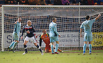 Dundee v St Johnstone.....27.02.13      SPL.Mark Stewart looks to see if his late equaliser was offside or not as th saints players appeal.Picture by Graeme Hart..Copyright Perthshire Picture Agency.Tel: 01738 623350  Mobile: 07990 594431