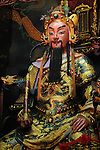 Bao-jhong Yi-min Temple, Kaohsiung -- Statue of a Taoist god.
