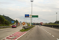 Malaysia.  Direction Signs on Highway AH2 between Ipoh and Taiping.