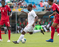 CHARLOTTE, NC - JUNE 23: Junior Hoilett #10 makes a run on goal during a game between Cuba and Canada at Bank of America Stadium on June 23, 2019 in Charlotte, North Carolina.
