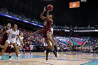 GREENSBORO, NC - MARCH 06: Taylor Soule #13 of Boston College takes a shot during a game between Boston College and Duke at Greensboro Coliseum on March 06, 2020 in Greensboro, North Carolina.